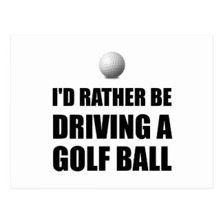 Plutôt conduise des boules de golf cartes postales