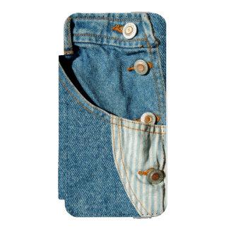 Poche de blue-jean de denim coque-portefeuille iPhone 5 incipio watson™