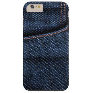 Poche de blues-jean coque iPhone 6 plus tough