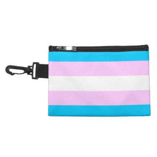 Pochette Avec Clip Drapeau de fierté de transsexuel - bleu - blanc -