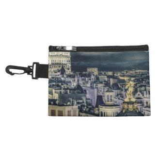 Pochette Avec Clip Vue aérienne de scène de nuit de paysage urbain de