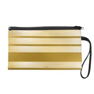 Pochette avec dragonne Gold bandes horizontales