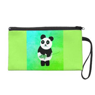 Pochette Avec Dragonne Sac/bourse de bracelet d'ours panda