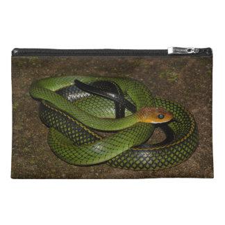 Pochette De Voyage Ratsnake Noir-mis en marge ou serpent de rat vert