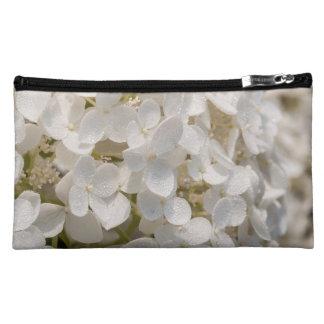Pochette Simili Daim Pochette, fleur blanche