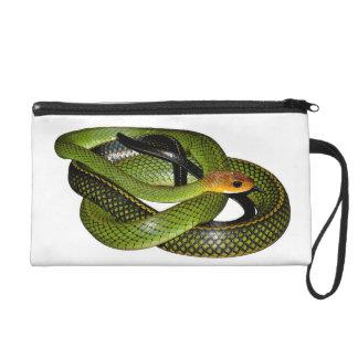 Pochettes Avec Dragonne Ratsnake Noir-mis en marge ou serpent de rat vert