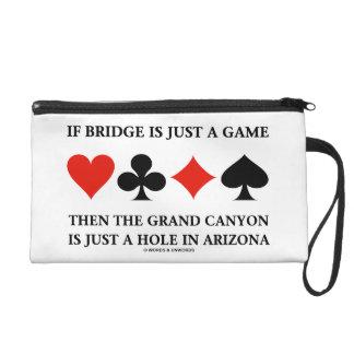 Pochettes Avec Dragonne Si le pont est juste un trou AZ de canyon grand de