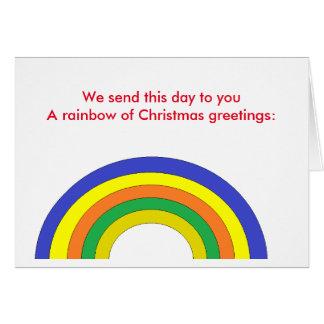 Poème : Carte de voeux d'arc-en-ciel de Noël