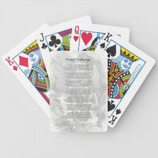 Poème de pêche de truite jeu de cartes