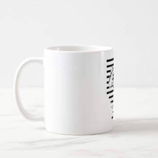 Poésie et café mug blanc