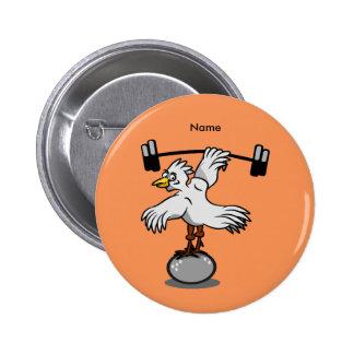 Poids de levage de poulet badge rond 5 cm
