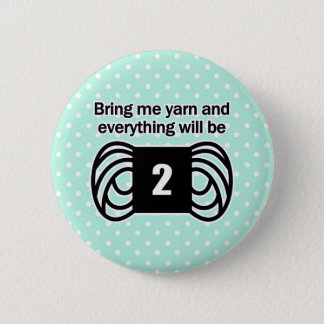 poids drôle d'amende de fil à tricoter d'humour de badge rond 5 cm