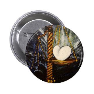Poids d'un coeur lourd et léger badge rond 5 cm