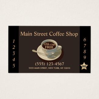 Poinçon de fidélité de client de café-restaurant cartes de visite