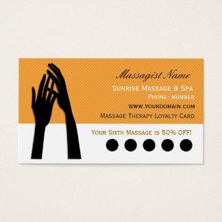 Poinçon de fidélité de client de thérapie de cartes de visite