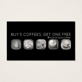 poinçon de grammes de café cartes de visite