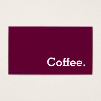 Poinçon simple de café de fidélité de Vin-couleur Cartes De Visite