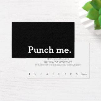 Cartes De Visite Poinçonnez-moi carte perforée foncée simple de