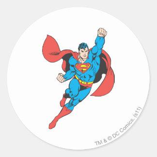 Poing droit de Superman augmenté Sticker Rond