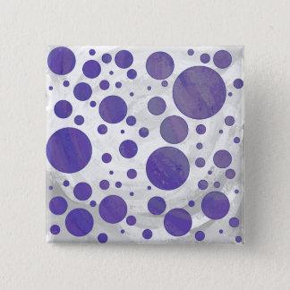 Point de polka de calomnie de myrtille badge carré 5 cm