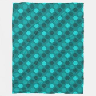 Point de polka de turquoise