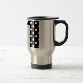 Point de polka le noir et blanc mug de voyage