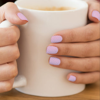 Point de polka pourpre stickers pour ongles