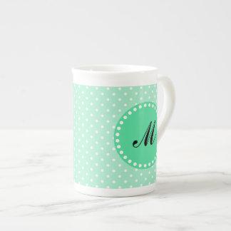 Point en bon état et blanc de magie de monogramme  mug