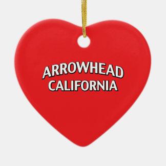 Pointe de flèche la Californie Ornement Cœur En Céramique