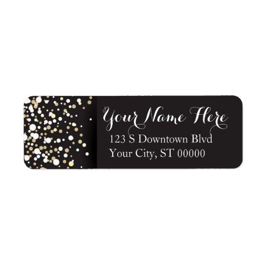 Points d'or - étiquettes de adresse