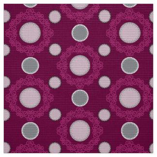 POINTS DYNAMIQUES - popeline magenta de polyester Tissu