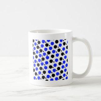 Points noirs et bleus d'éclaboussure mug