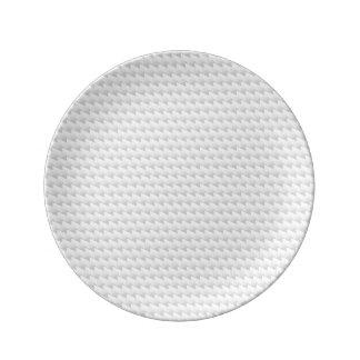 Points pointus blancs assiettes en porcelaine