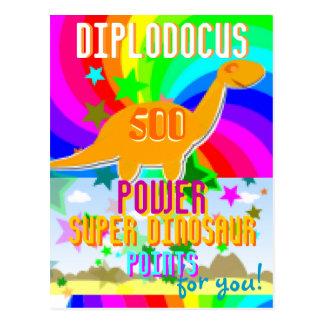 Points superbes de Dino de puissance du Diplodocus Carte Postale