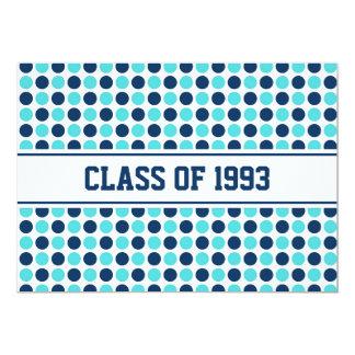 Points turquoises bleus d'invitations de la carton d'invitation  12,7 cm x 17,78 cm