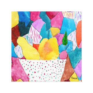 Poire d'aquarelle, Apple et art de mur de toile de