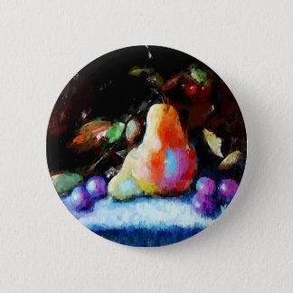 Poires et cadeaux de raisins badge rond 5 cm