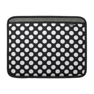 Pois blanc noir - douille de MacBook Poches Macbook