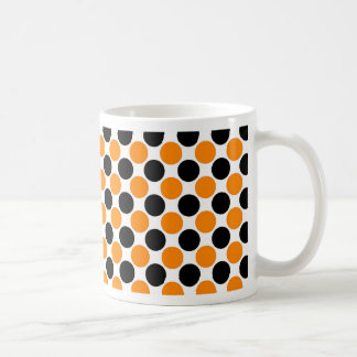 Pois blanc orange noir mug blanc