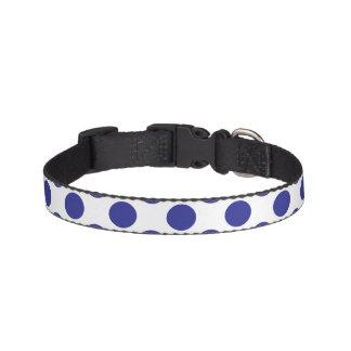 Pois bleu profond collier pour chien