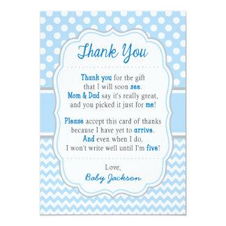 Pois de bleus layette du carte de remerciements |