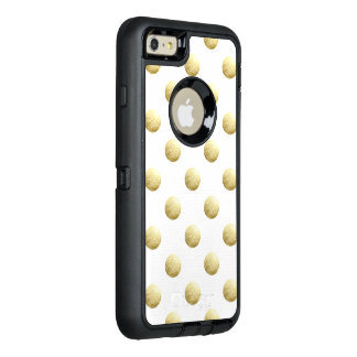 Pois de photo de feuille d'or coque OtterBox iPhone 6 et 6s plus