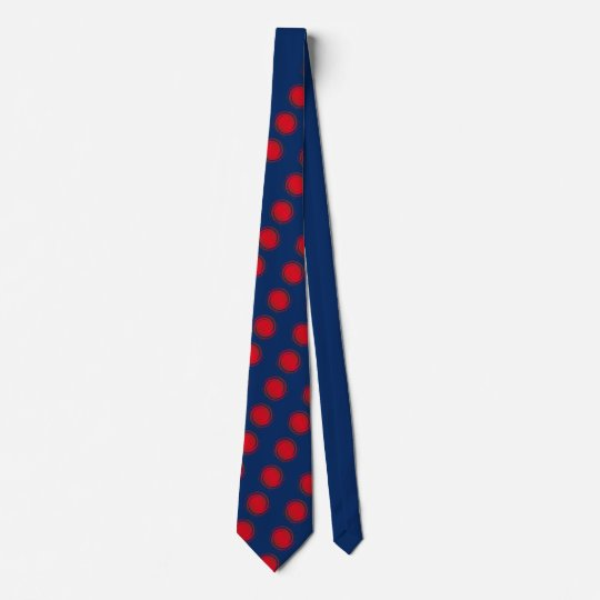 Pois de tourbillonnement rouge cravate