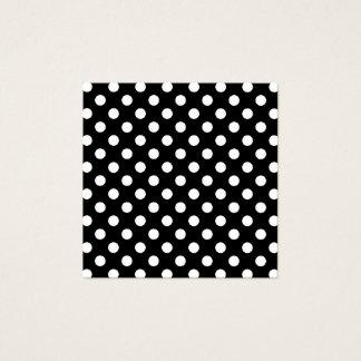 Pois noir et blanc carte de visite carré