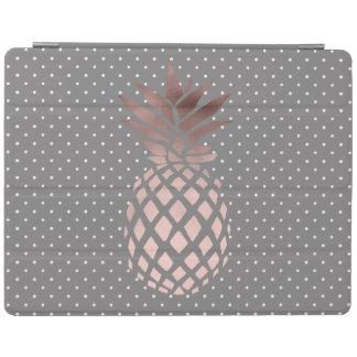 pois rose d'ananas de feuille d'or de poussin protection iPad