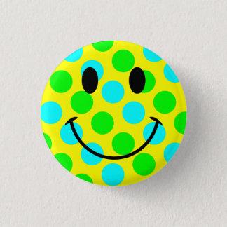 Pois souriant de visage badge rond 2,50 cm