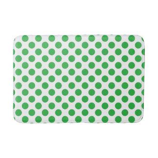 Pois vert tapis de bain
