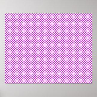 Pois violet d'éblouissement poster