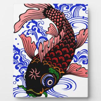 Poisson japonais impressions sur plaque