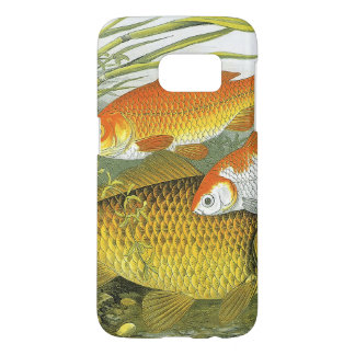 Poisson rouge aquatique vintage Koi, poisson marin Coque Samsung Galaxy S7